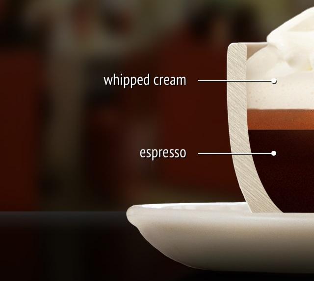 اسپرسو کنپانا Espresso con panna