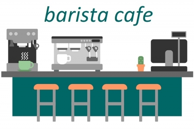 coffee cafe باریستا