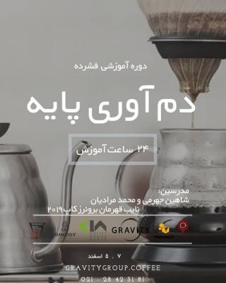 دوره آموزشی فشرده دم آوری پایه با هدایت شاهین جهرمی و محمد مرادیان  در آکادمی گرویتی