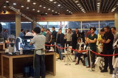 شروع مرحله نیمهنهایی مسابقات باریستا و لته آرت در فستیوال قهوه