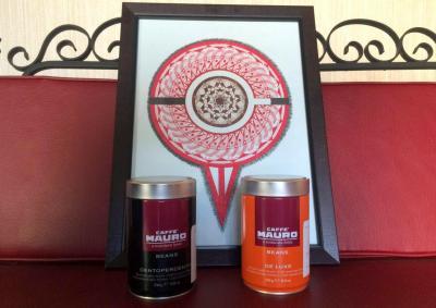 قهوه مائورو دیلوکس قوطی فلزی coffee mauro deluxe 2